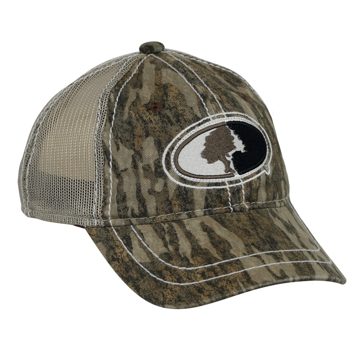 dab0dabea645c ... Mossy Oak Youth Contrast Stitch Mesh Back Cap. Bottomland