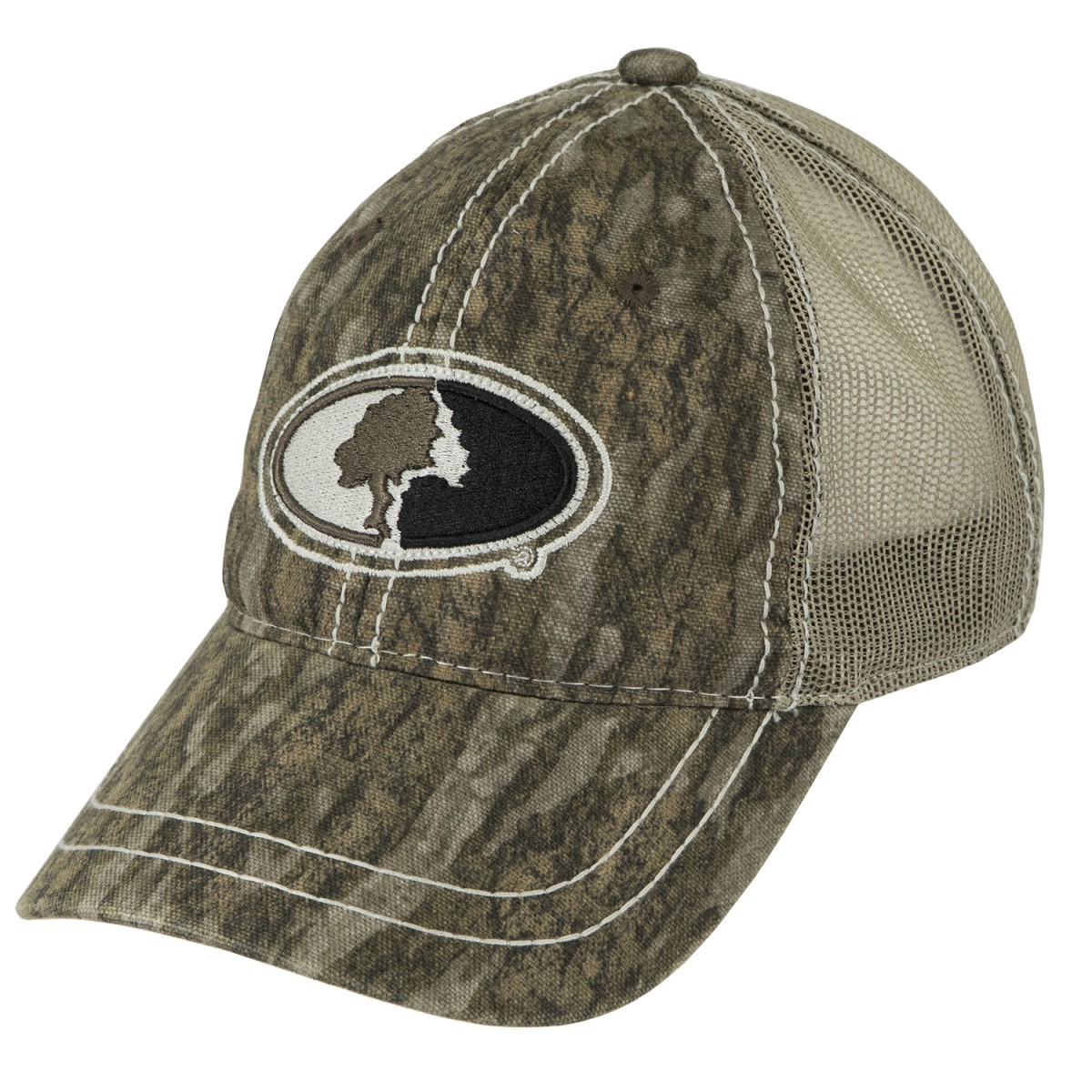 ... Mossy Oak Contrast Stitch Mesh Back Cap. Bottomland 242be9d4b2a