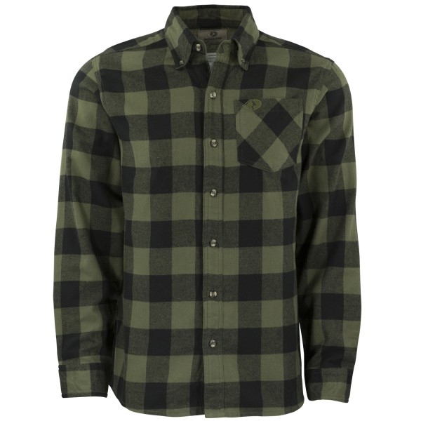 Olive Buffalo Plaid