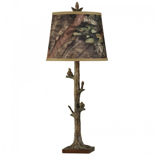 Mossy Oak Nativ Living Birds on Branch Table Lamp
