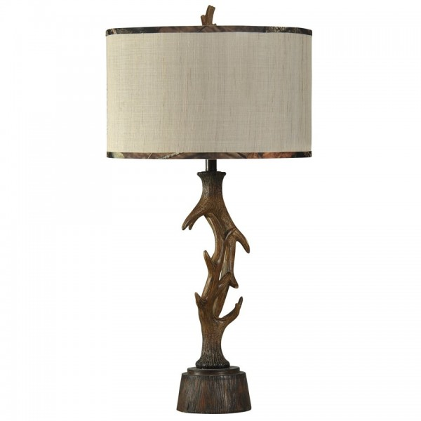 Mossy Oak Nativ Living Faux Elk Antler Table Lamp