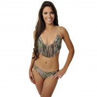 Girls with Guns Fringe Bikini Bottom