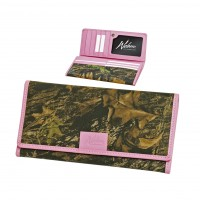 Weber Ladies' Pink Trimmed Clutch Wallet