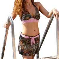 Wilderness Dreams Pink Belted Swim Skirt