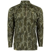 Mossy Oak Men's Camo Hunt Tech 1/4 Zip Long Sleeve
