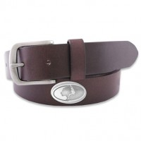 Zep-Pro Pull Up Leather Belt with Gun Metal Buckle