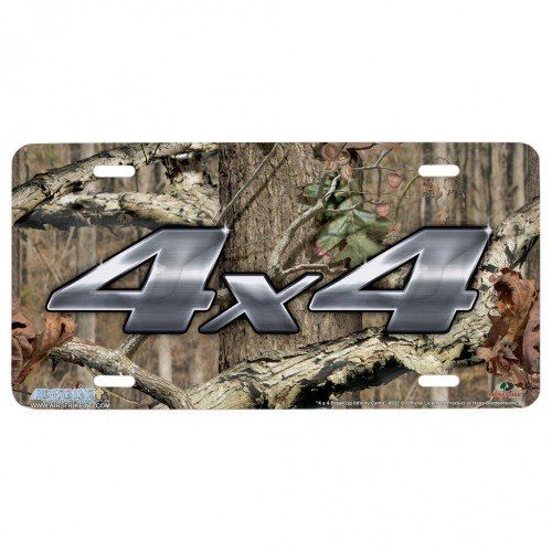 Mossy Oak Camo Hunting 4x4 Infinity License Plate