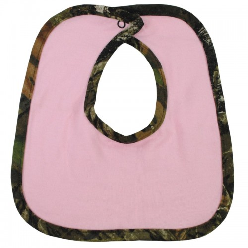 Mossy Oak Infant Bib Pink w/Break-Up Trim