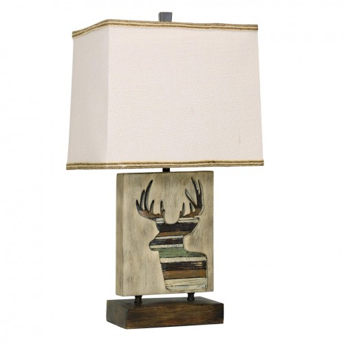 Mossy Oak Nativ Living Deer Motif Table Lamp