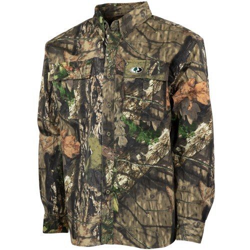 Mossy Oak Men's Cotton Mill 2.0 Hunt Shirt