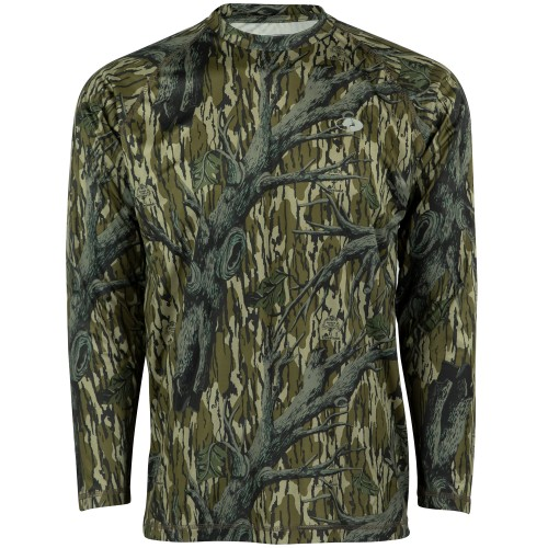 Mossy Oak Men's Long Sleeve Camo Hunt Tech Shirt